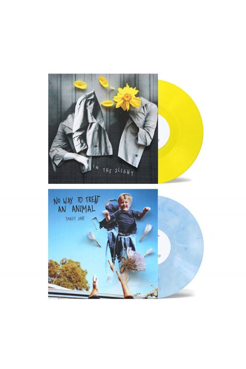 "No Way To Treat An Animal (EP) 10"" Vinyl (V2 Blue/White)+ In The Slight (EP) 10"" Vinyl (V2 Yellow) by Spacey Jane"